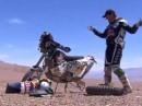 Dakar 2010 - Etappe 5 - Copiapo nach Antofagasta. David Casteu nach schweren Sturz zur Aufgabe gezwungen.