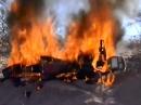 Dakar 2014 Schicksal: Goncalves Honda brennt nach Sturz restlos ab
