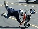 Der kürzeste Motorrad-Stunt der Welt - 4Mill. Klicks und kann nichts :-(