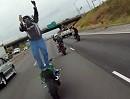 Die abgefahrenste Art in Facebook zu posten: Motorradstunt Christ
