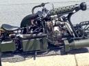 Diesel Motorrad Twin Turbo Eigenbau - und läuft! Genial