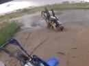 Dirtbike Crash: Wenns Vorderrad aprupt stehen bleibt, wirds Gesicht dreckig