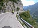 Dolomiten Fahrt von Asiero Richtung Pass Vena