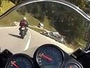 Dolomiten Pass Staulanza mit der Fazer 1000 und die Sonndaachfahrer