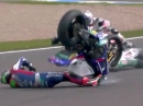 Donington SBK-WM 2014 Race1 Highlights - Sykes Hammer Rennen
