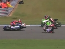 Donington WSBK-WM 2014 Race2 Highlights Sykes Doppelsieg