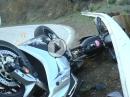 Doppelter Crash in die Leitplanke - Fahrer ok, Material Schrott - Snake Schicksal