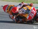 """Down but not out"" Marquez Rutscher im FP3, Aragon 21"