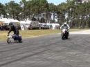 Drag Speeding: 70ccm vs 675ccm - der Kleine frisst den Großen