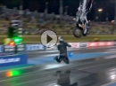Dragbike Flip Crash: Wheeliebar ist großer Mist, wenn sie nicht vorhanden ist