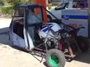 Dreirad - Suzuki GSX-R Motorrad komplett implantiert *rofl*