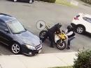 Dreistes Dreckspack: Motorrad-Klau am hellichten Tag - keiner unternimmt was!