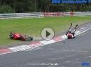 Ducati 1098 Crash Nordschleife Vorderrad eingeklappt - Warum?