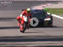 Ducati 1199 Panigale R vs Audi R8 LMS - Monza