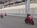 Ducati 1199 Panigale Superbike-Rudel beim Pressetest in Abu Dhabi