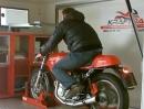 Ducati (1979er Ducati 500 Pantah) Cafe Racer am Leistungsprüfstand