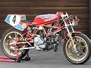 Ducati 750 TT von Toni Rutter Warmup - Bildschöne Motorräder