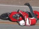 Ducati 848 Crash - Lieber Weihnachtsmann schreib mit für den Wunschzettel ...