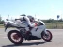 Ducati 848 Evo Full Termignoni Flyby - 132 PS beim Vorbeiflug