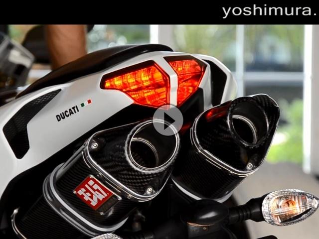 Ducati 848 EVO Serie vs. Yoshimura TRC Slip-On Auspuffanlage - Geil!