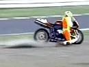 Motorrad Rodeo mit Ducati 996 Alles nix genutzt