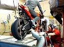 Ducati D16RR Desmosedici Prüfstandlauf mit Leistungsdiagramm