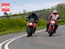 Ducati Hyperstrada vs KTM 990 SMT Vergleichstest via MCN