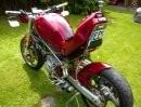 Ducati Monster mit Quad Auspuffanlage
