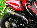 Ducati Monster 695 Stock Exhaust vs. Mivv GP High Up