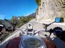 Ducati Monster am Lech entlang Richtung Stanzach
