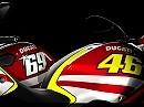 Ducati Monster Art MotoGP-Replica. Valentino Rossi und Nick Hayden