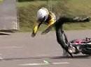 """Ducati Monster Higsider - klassisch, zu früh am Gas ... und Tschüss """"Ich wollte doch nur mit dem Knie schleifen"""""""