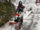 Ducati Motorradfahrer im Winter