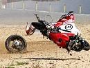Ducati Panigale 1199 Crash: Kernschrott bzw. Totalschaden Fahrer OK