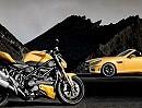 Ducati Streetfighter 848 / Mercedes-Benz SLK 55 AMG - sehr sexy die Zwei