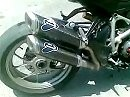 Ducati Streetfighter mit Termignoni Doppelrohr Auspuffanlage