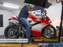 Ducati Superleggera 1299, Akrapovic Exhaust - Dynorun mit Leistungsdiagramm