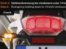 Dynamisches Bremslicht von BMW Motorrad - mehr Sicherheit beim Bremsen