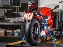 Dyno Ducati Panigale V4 auf der Rolle via MCN, Leistungsdiagramm