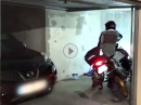 Einparken im Boss-Modus mit BMW R1250GS in Tiefgarage