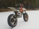 Electric Supermoto on Ice / KTM Freeride E-XC mit Spikes