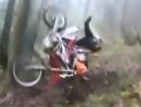 Enduro Crash: KTM EXC 530 attackiert Honda CRF 250X und springt dem Fahrer ins Gesicht