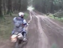 Lyndon Poskitt Enduro Terror: Beacons Rally 2012 Vollgas durchs Gebälk Attacke