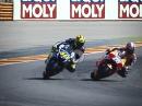 EPIC! Dani Pedrosa vs Valentino Rossi geile Battle