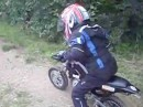 Erster Dirt Versuch Minibike Freestyle