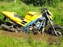 Supersportler geht auch dreckig: Honda CBR 600 F2 mit Cross-Reifen und ab durch den Wald