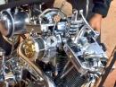 Harley Evo Chopper mit 'offenem Herzen' und top Sound