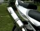 Micron full race exhaust on Suzuki SV650S