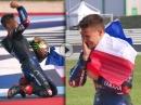 Fabio Quartararo feiert seinen WM-Titel - Gratulation Champ