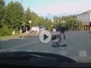 Fahrerflucht: Frau umgefahren, abgehauen = Drecksack